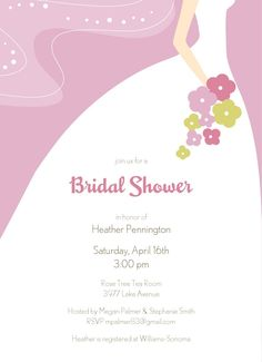 free shower template weddding | Free Bridal Shower Invitation Printable Templates
