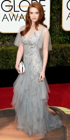 2016 Golden Globes Red Carpet Arrivals - Sarah Hay - from InStyle.com