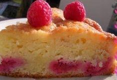 Gâteau fondant aux amandes et framboises