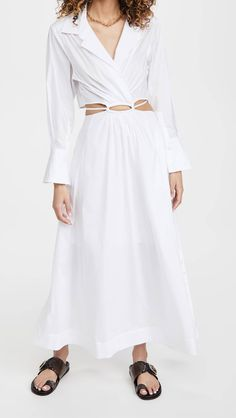 20 Casual Spring Dresses, According to the Biggest Trends | Who What Wear Spring Dresses Casual, Daytime Dresses, Maxi Styles, Jonathan Simkhai, Asos Dress, China Fashion, Striped Dress, Pretty Dresses, Poplin
