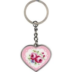 Kensington Rose Enamel Keyring - Raises £0.15 for your charity with Give as you Live