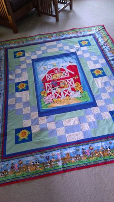 Child's Farm Quilt, by Sue