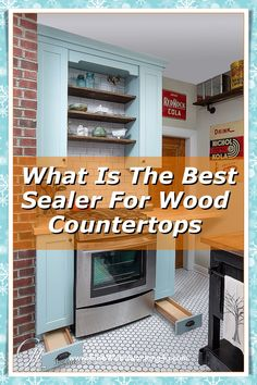 While it may seem time consuming to protect your wooden countertop, painting a wood sealer and finish onto it will help the wood keep its original luster. #woodencountertops #woodcountertops Wooden Countertops, Wood Sealer, Luster, Keep It Cleaner, Woodworking Projects, Kitchen Cabinets, The Originals, Painting, Design