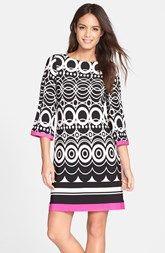 Eliza J Print Jersey A-Line Dress (Regular & Petite)