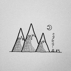 Resultado de imagen para montaña con un hueco en la mitad dibujoç