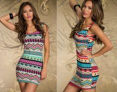 Бесплатная доставка Новая мода женщины сексуальное Винтаж Отпечатано Клубная одежда Танк платье Лето Платье 389,33