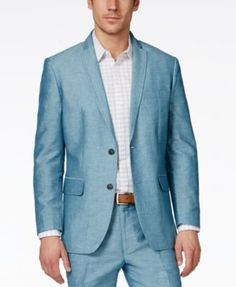 INC International Concepts Men's Neal Linen Blazer, Only at Macy's | macys.com