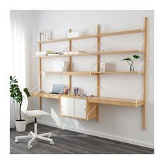SVALNÄS Wall-mounted workspace combination IKEA With a spacious storage solution everything has its place; makes it easy to find your things.
