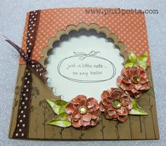 Using Scalloped circle and Rose Creations dies from Spellbinders.