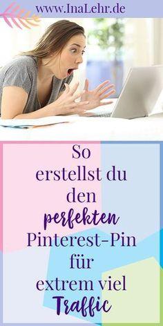So erstellst du den perfekten Pinterest Pin - Gestalte mit diesen genialen Tipps den perfekten Pinterest Pin für ganz viel Traffic auf deinem Blog. Ich verrate dir meine Tricks, wie du wunderschöne Pinterest Pins erstellen kannst. Ganz einfach zum Nachmachen. Affiliate Marketing, E-mail Marketing, Social Media Plattformen, Pinterest Pin, Pinterest Marketing, Earn Money, Tips, Layout, Logo