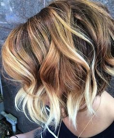 Great Hair Color Option: Balayage on Bob Haircuts - Hairstyle Fix Love Hair, Great Hair, Ombre Hair, Balayage Hair, Balayage Color, Color Highlights, Balayage Highlights, Blonde Color, Wavy Bobs