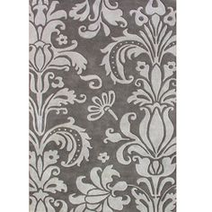 Hand-tufted Metro Foral Grey Wool Rug (8' x 10') | Overstock.com Shopping - Great Deals on Alliyah Rugs 7x9 - 10x14 Rugs