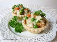 Tarteletter with Chicken, Peas and Carrots from the blog My Danish Kitchen (recipe and instructions in English)