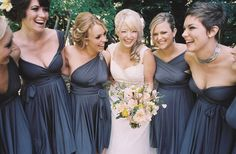 Mismatched Bridesmaids Same Dress But Multiple Ways to Wear It