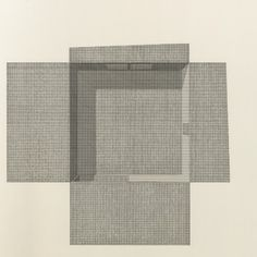 Untitled 29 (from The Marriage of Reason and Squalor, 2001-2014) Ink on paper, 50x50cm. Image © Pier Vittorio Aureli