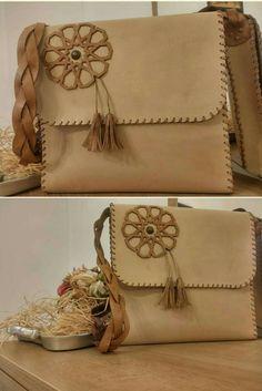Deri el yapımı çanta
