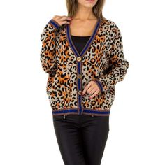 Cardigan dama animal print Blouse, Long Sleeve, Sleeves, Jackets, Tops, Women, Fashion, Down Jackets, Moda