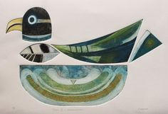 Totem II Metamorphosis, Signed Original collagraph (collograph) by Francesca Whetnall, available on Etsy.
