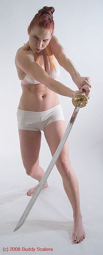 Woman Sword Swing   Flickr - Photo Sharing!
