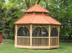 Captivating Gazebo Roofs | Option Metal Roof The Metal Roof Option On A Gazebo Junction  Gazebo .
