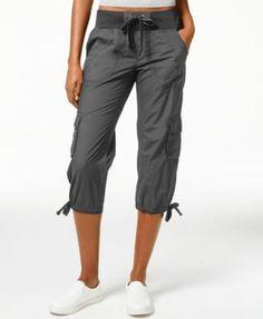 5da185450464d Calvin Klein Performance Cargo Cropped Pants & Reviews - Pants & Capris -  Women - Macy's