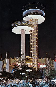 Observation Towers New York State Exhibit - New York World's Fair 1964-1965 | Flickr - Photo Sharing!