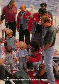 Stefano Casiraghi with his kids two days before he died :(
