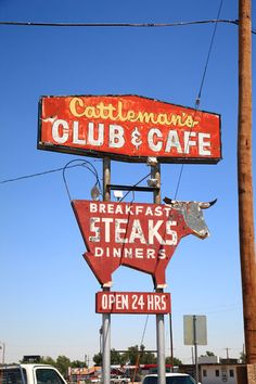 Cattleman's Club, Route 66 - Amarillo, Texas by Frank Romeo: October 2012