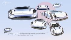 Porsche on Behance Car Design Sketch, Car Sketch, Transportation Design, Automotive Design, Concept Cars, Industrial Design, Porsche, Automobile, Sketches