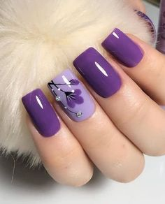 Colorful Nail Designs, Nail Tutorials, Pretty Nails, Nail Colors, Acrylic Nails, Manicure, Lavender, Hair Beauty, Nail Art