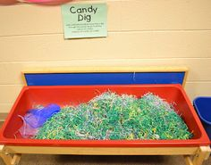Easter Candy dig game: Hunt, blindfolded, for jelly beans.  Could use as a themed minute to win it game for Easter.