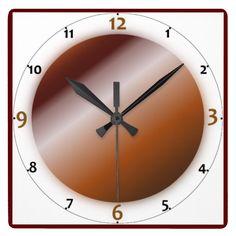 Brown Art Look Wall Clocks