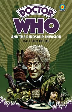"""Doctor Who - The Invasion of the Dinosaurs - 18 x 12"""" Target Paperback Pastiche Digital Print"""