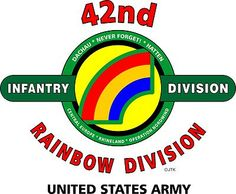 "42nd Infantry Division "" Rainbow Division"" United States Army Shirt"