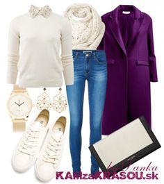 Dlhý fialový kabát - #kamzakrasou #sexi #love #jeans #clothes #coat #shoes #fashion #style #outfit #heels #bags #treasure #blouses #dress