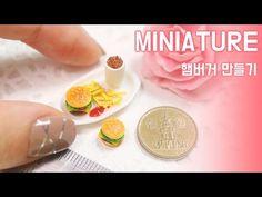 미니어쳐 햄버거 만들기! MINIATURE * Pork cutlet - YouTube