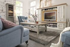 Living Room Tv Wall New Living Room Entertainment Center Elegant Living Tv Living Room Flat Living Room Wall Units, Cottage Living Rooms, Living Room White, Living Room Tv, Living Room Modern, Country Style Furniture, Country Style Living Room, Country Modern Home, Country House Interior