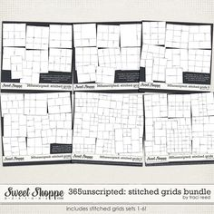 365Unscripted: Stitched Grids Bundle by Traci Reed