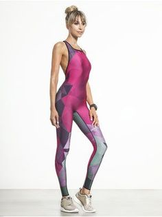 Motion SILK Fractal Print Unitard