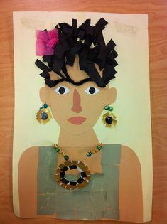 Frida Kahlo inspired collage-example (art teacher: v. giannetto)