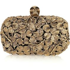 Alexander McQueen Engraved Leaf-and-Thorn Box Clutch