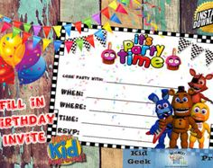 Five Nights At Freddy's FNAF Photo Booth por KidGeekPress en Etsy