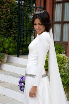 Una novia con manga larga