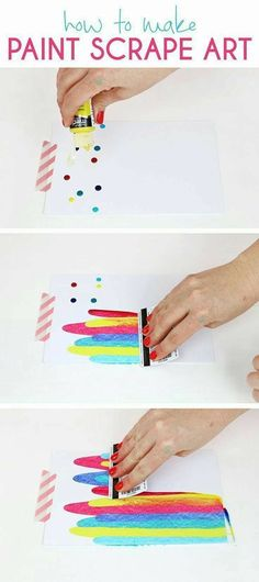 paint scraping for kids
