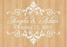 Wedding Dance Floor Decals Wedding Monogram by WicksnCandlesticks, $36.00