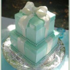 Tiffany boxes wedding cake