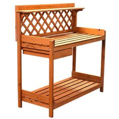 Best Choice Products® Potting Bench Outdoor Garden Work Bench Station Planting Solid Wood Construction Best Choice Products http://smile.amazon.com/dp/B005S56JBQ/ref=cm_sw_r_pi_dp_8y2ywb17WGKYR