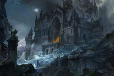Mysterious land by Hongqi Zhang