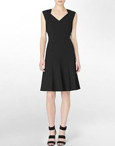 4c387da89217 Calvin Klein Women s Fit + Flare Sleeveless Dress