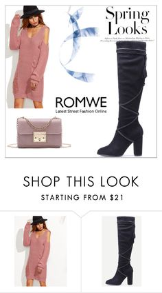 """""""romwe2/III"""" by obsessedwithnicestuff ❤ liked on Polyvore featuring WithChic and H&M"""